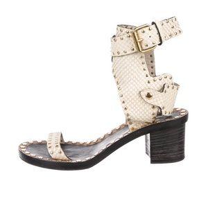 Isabel Marant Jaeryn Studded Sandal  Snakeskin
